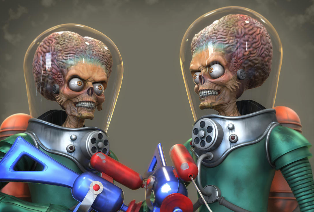 Mars Attacks - Martian Progress by FoxHound1984
