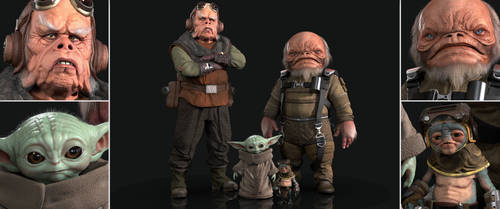 My 3D Star Wars Character Models by FoxHound1984