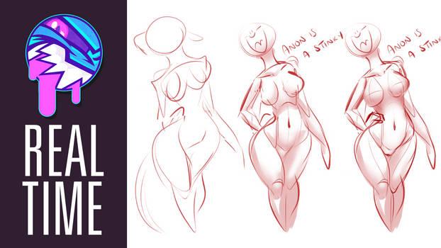 REAL TIME VIDEO | Doodling Anatomy | FEARDAKEZ