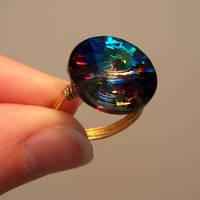Colorful Rivoli Crystal Ring by lulabug