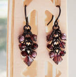 Black and Amethyst Earrings