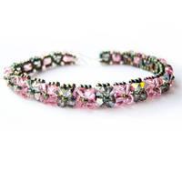 Rose and Sahara Woven Bracelet by lulabug
