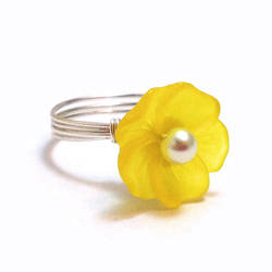 Yellow Flower Ring by lulabug