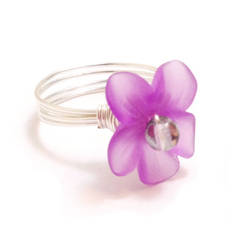 Violet Purple Orchid Ring