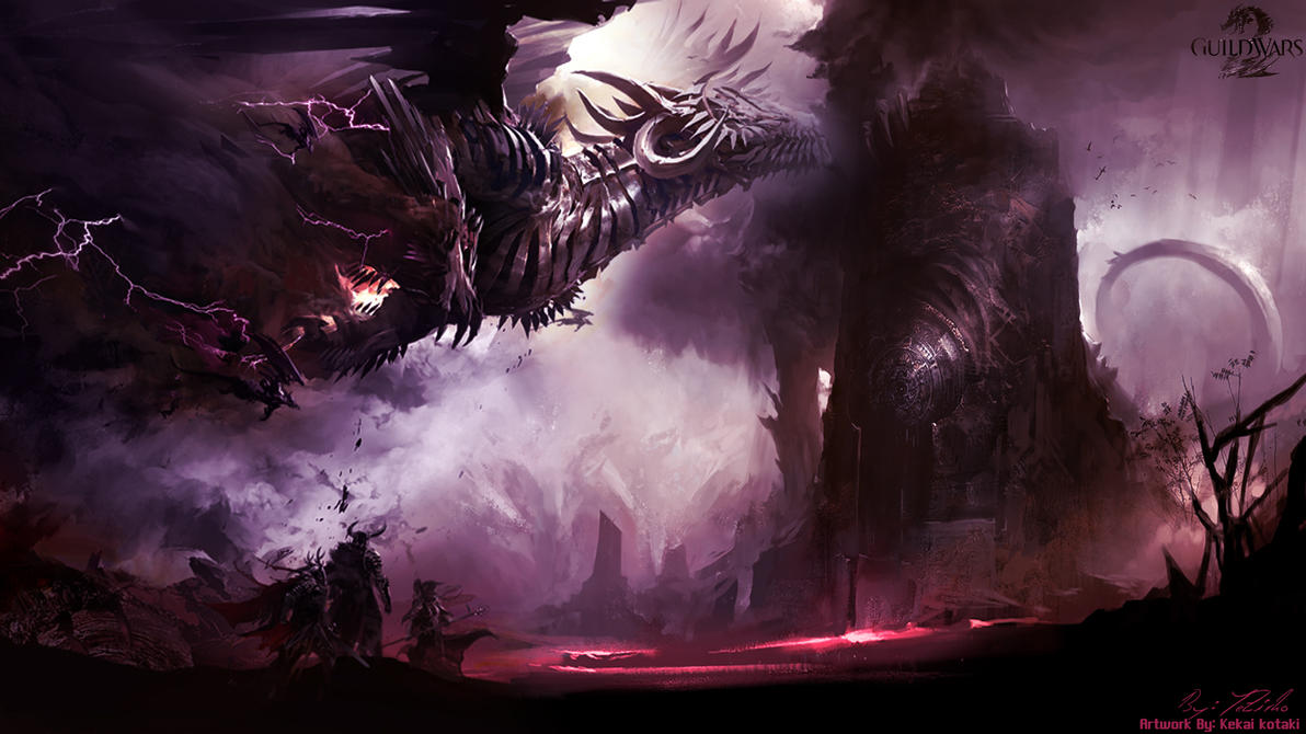 GW2 Dragon 1080p Wallpaper by AngelicBond