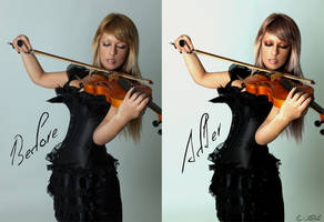 Before and After Violin V by AngelicBond