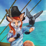 Red-haired foxy pirate!