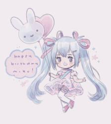 happy birthday miku!! by milkbunnii