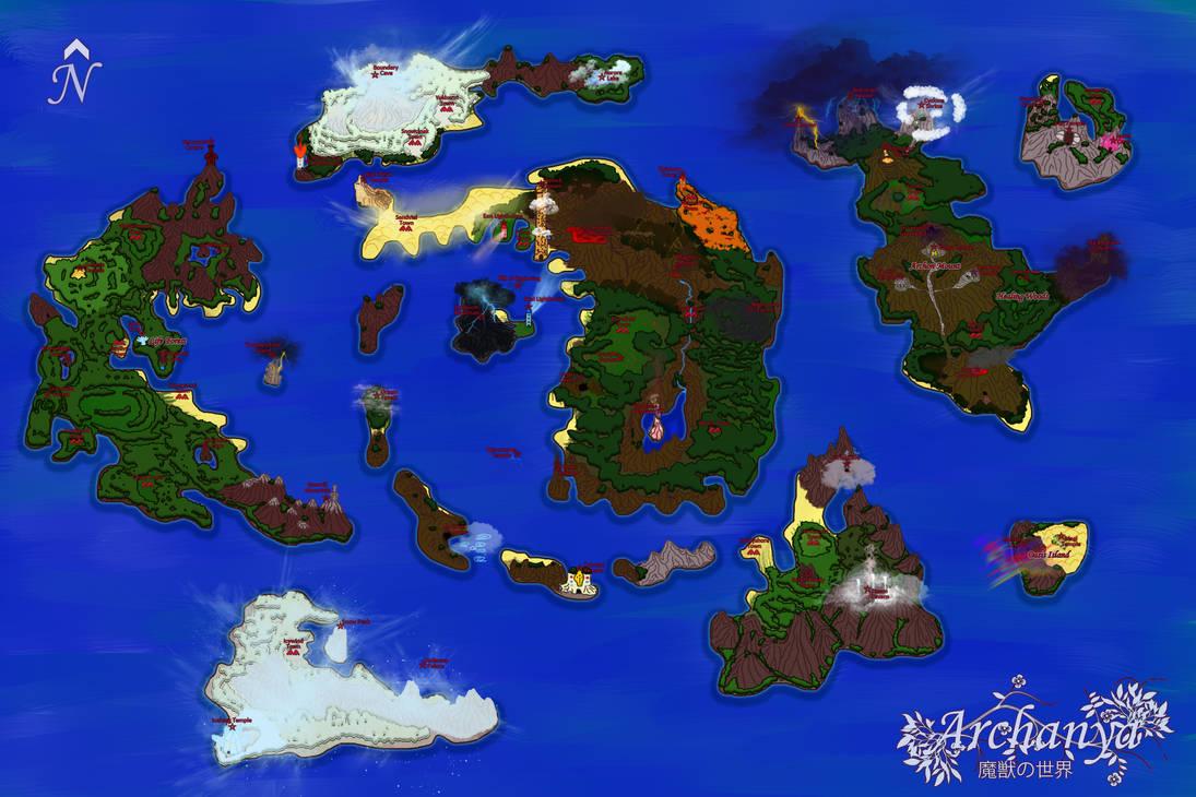 Archanya World Map