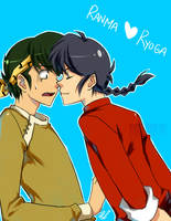 Ranma and Ryoga 2 by gem2niki