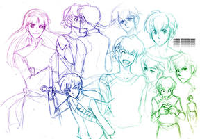 Ranma: Doodles 1 by gem2niki