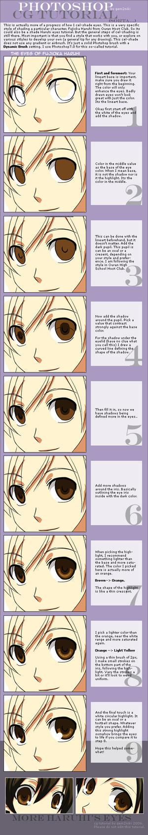 Eyes Cel-shade CG Tutorial