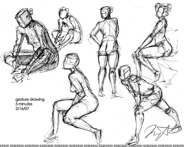 Scribble Line Gesture Drawing : Gesture drawing by gem niki on deviantart