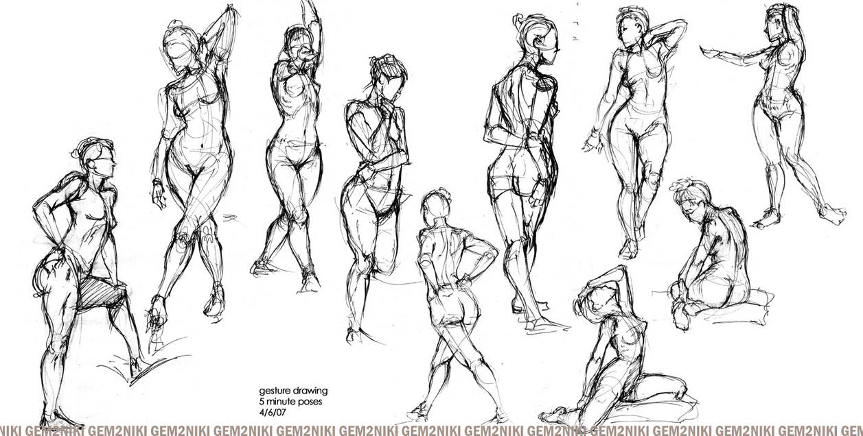 04-07-07 - Gesture Drawing by gem2niki on DeviantArt