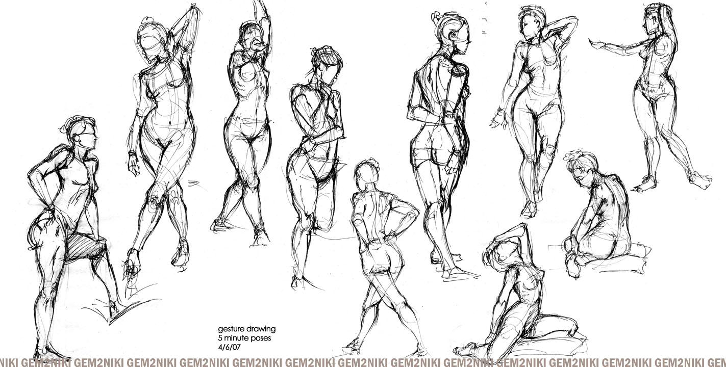 Scribble Gesture Drawing : Gesture drawing by gem niki on deviantart