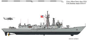 Oliver Perry Class Reuben James FFG-57 AU
