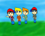 Ninten, Lucas, Claus and Ness :3