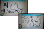 Josh's and Lucah's drawing on Swapnote :3