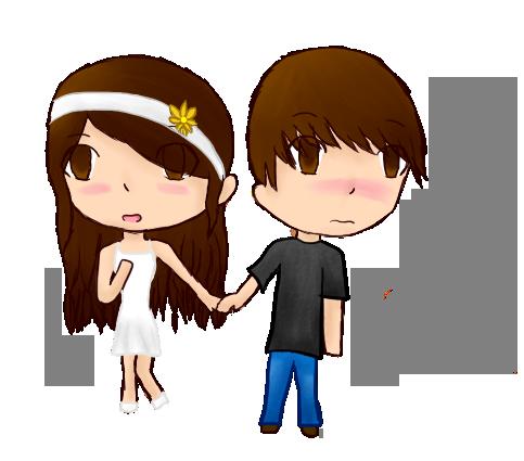 Holding Hands By Anime Gamer Girl