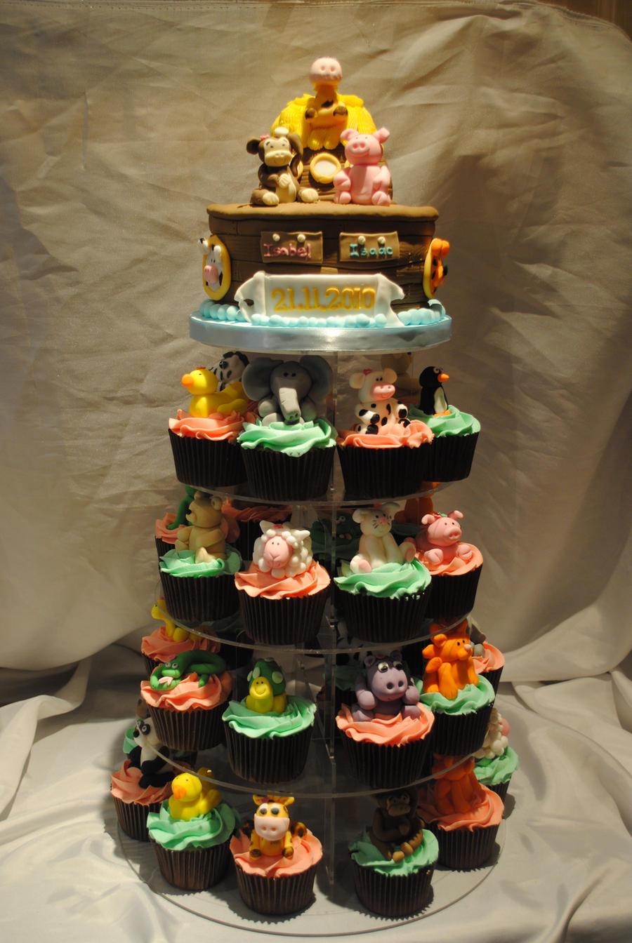 noah u0027s ark christening cake by starry design studio on deviantart