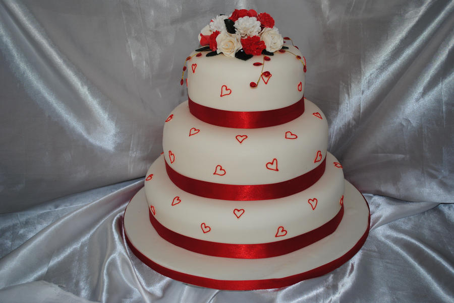 Wedding Cake Design Studio : Red wedding cake by starry-design-studio on DeviantArt
