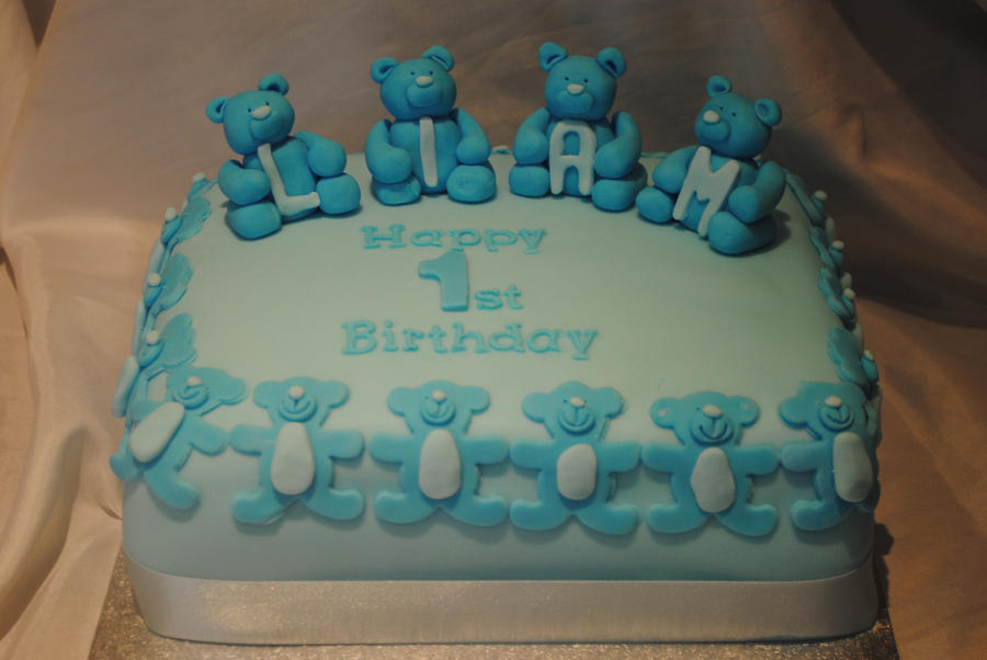 Cake Art Studio Nerul : Blue bears cake by starry-design-studio on deviantART