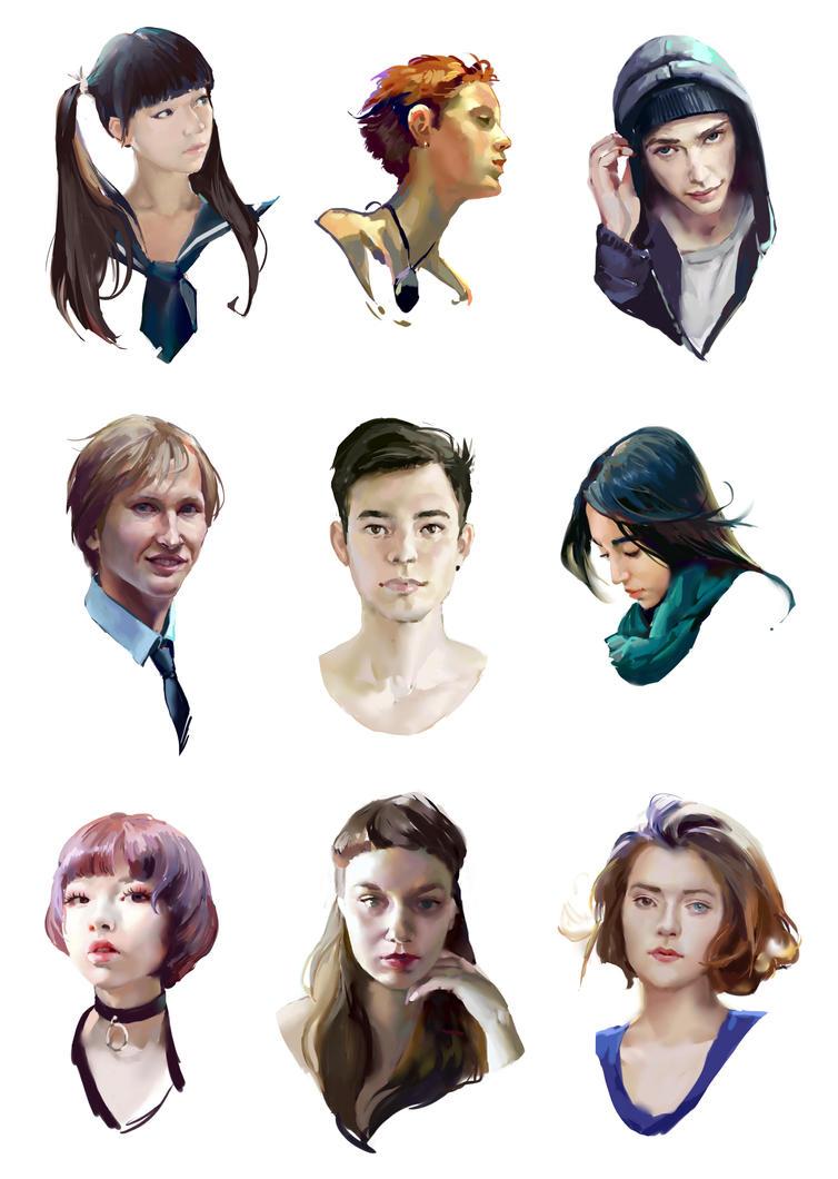 Portrait practice dump by NerinFox