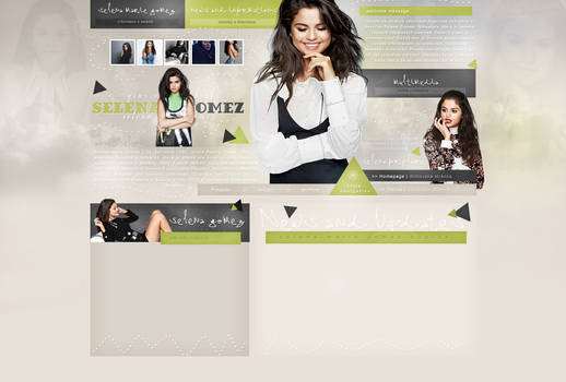 Premade design with Selena Gomez