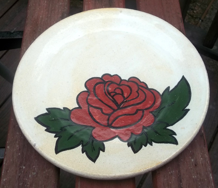Rose Plate by SpongeMuffin