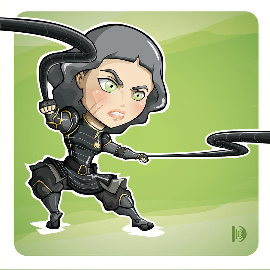 Lin Beifong Chibi by openthedorr