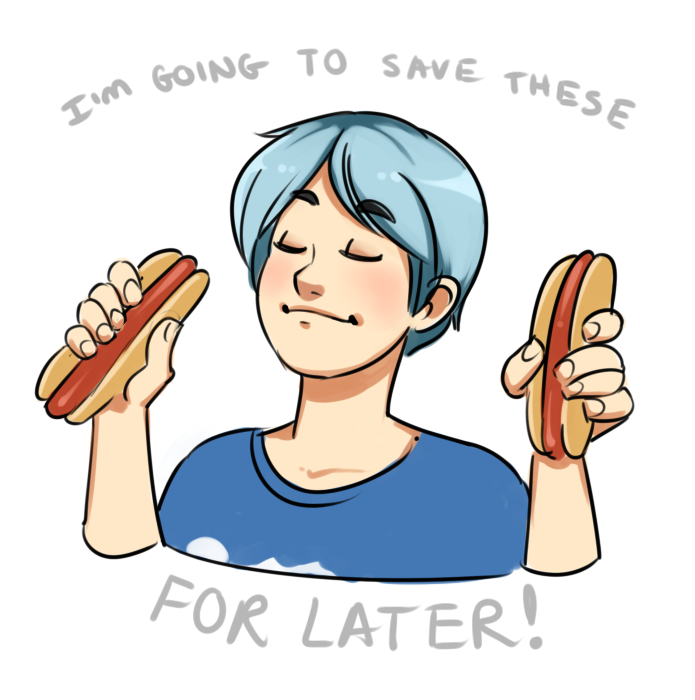 Tsao loves hotdogs by StarSheepSweaters