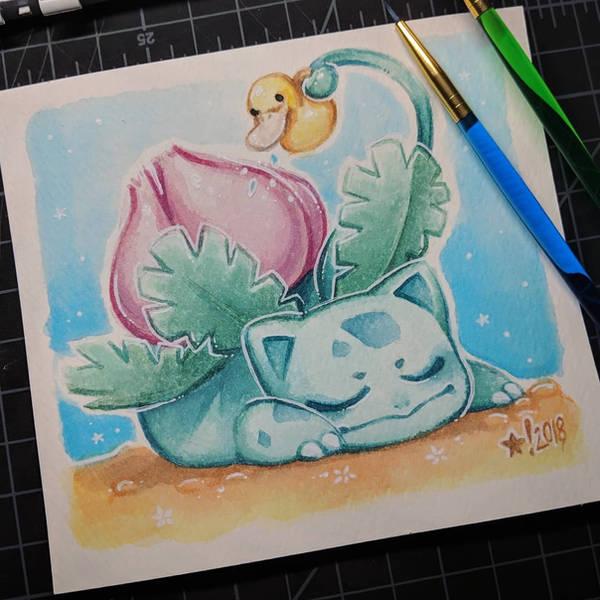 Ivysaur by StarSheepSweaters