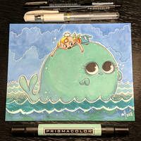 Inktober day 12 - Whale by StarSheepSweaters