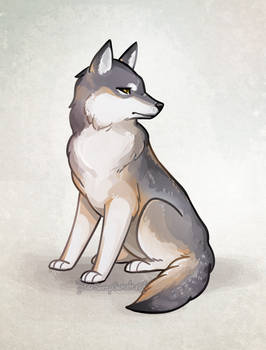 Pensive Wolf