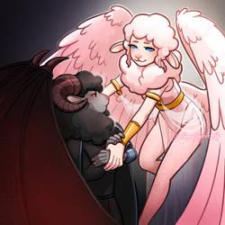 Sheeptember Day 3 - Angel / Devil