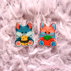 Wereric and Starberry Pins