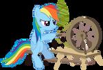 Rainbow dash hates chores
