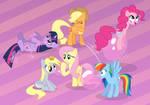Ponies try bubble gum