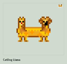 CatDog Llama by ModernHippy