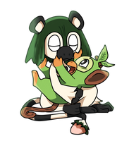 fake grass starter and grookey