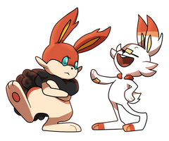 fake fire starter and scorbunny