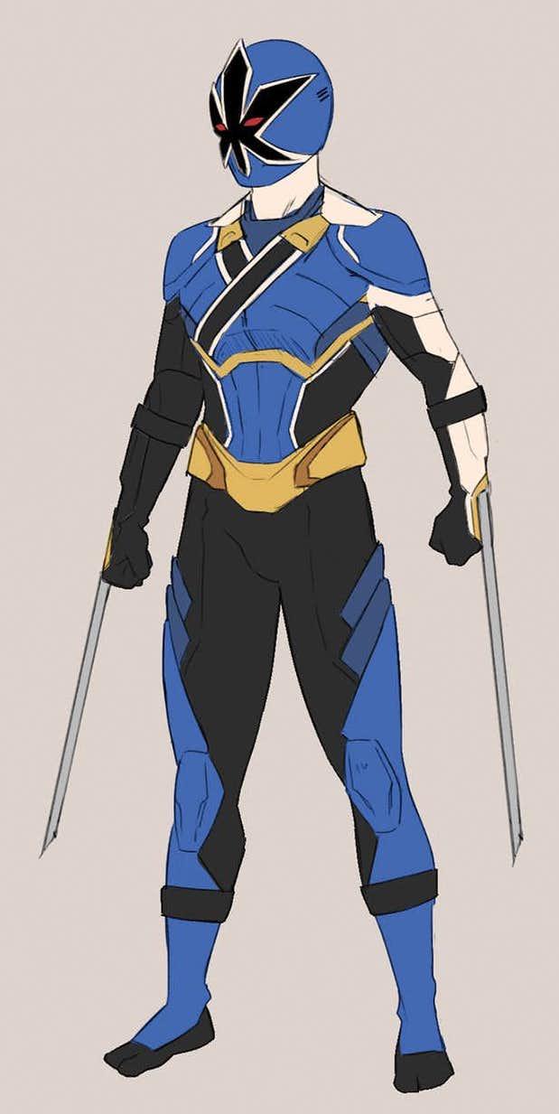 Blue Samurai Sentries by Trident346