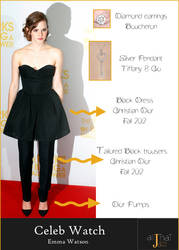 Emma Watson Celeb watch graphic by surya91