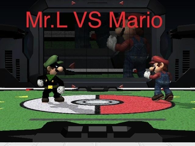 Mr.L VS Mario by RockmanMegaman2