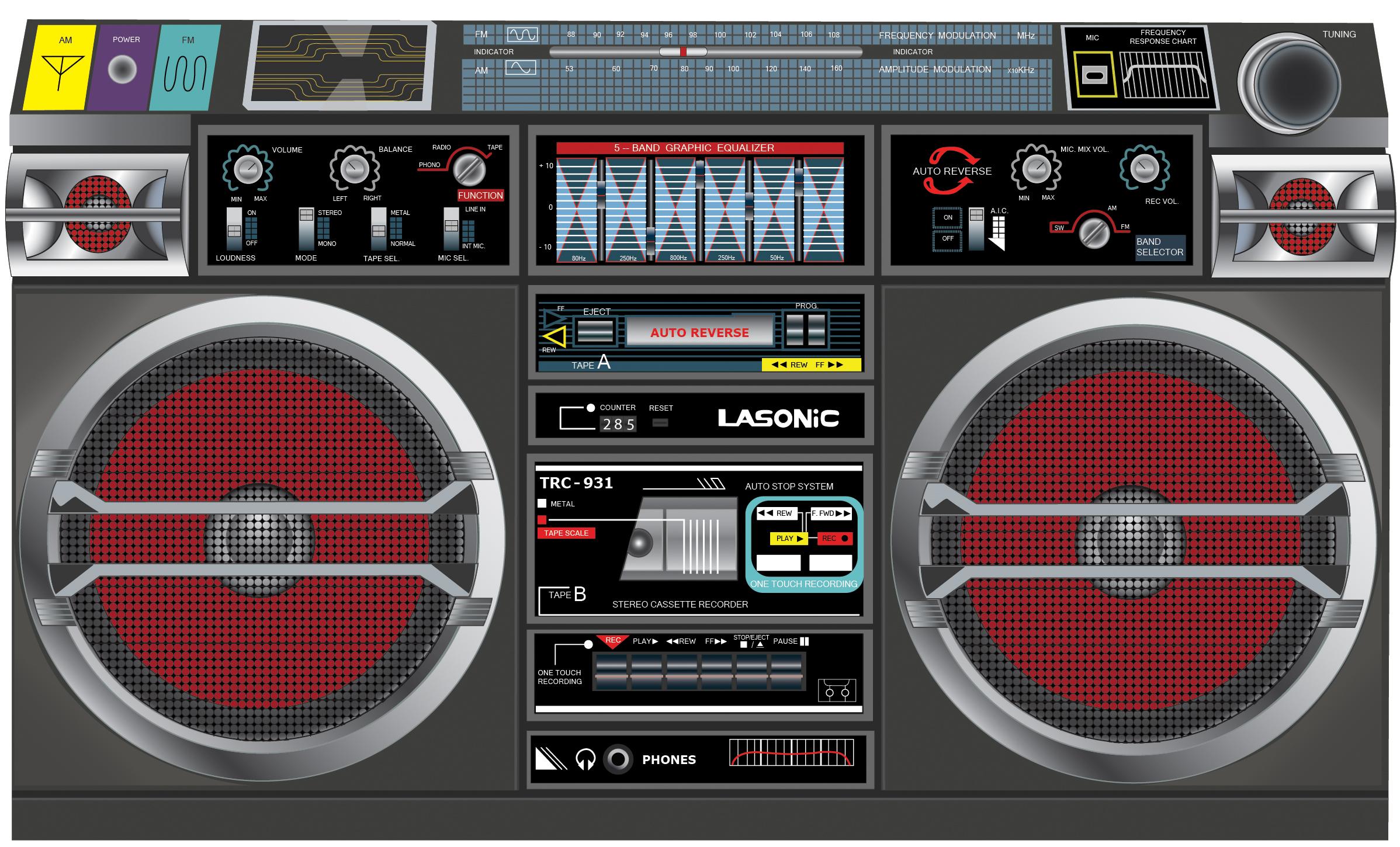 lasonic boombox by bworkman on deviantart. Black Bedroom Furniture Sets. Home Design Ideas