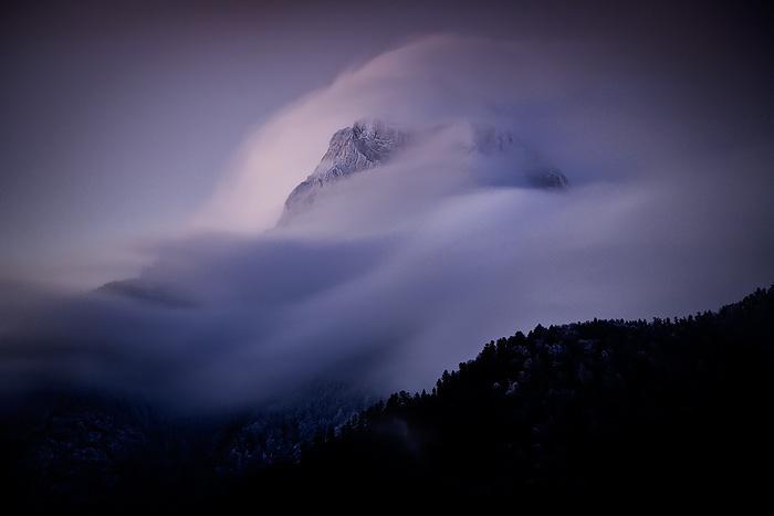 Clouds on Le Faraut by vincentfavre