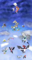 Fakemons in the sky by AndkeAnka