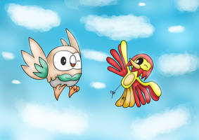 Phinxz And Rowlet by AndkeAnka