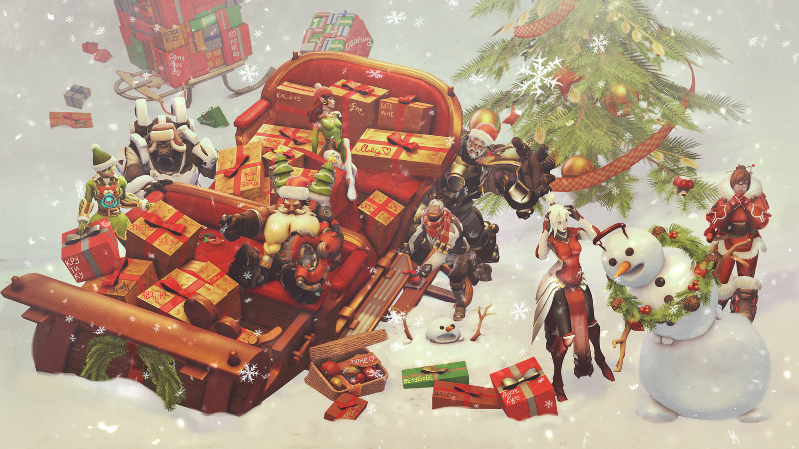 Christmas crash overwatch by shmagomolova on deviantart - Overwatch christmas wallpaper ...