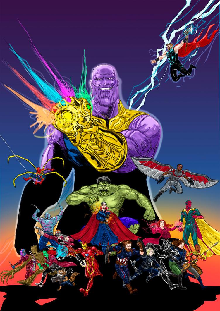 Avengers Infinity Wars by lucas-garcia
